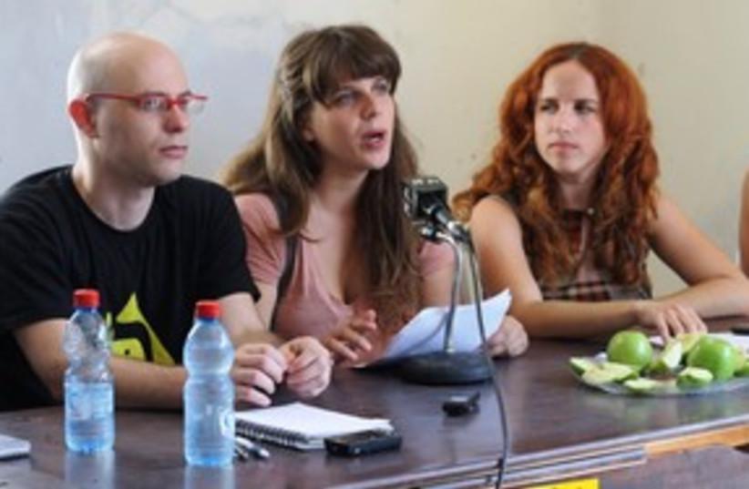 Protest leaders Dafni Leef, Stav Shafir 311 (photo credit: Ben Hartman)