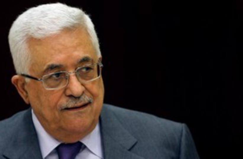 PA President Abbas at PLO Executive meeting 311 (R) (photo credit: REUTERS/Mohamad Torokman)