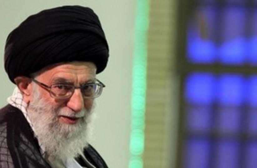 Iran's supreme leader Ayatollah Ali Khamenei 58 (R) (photo credit: Ho New / Reuters)