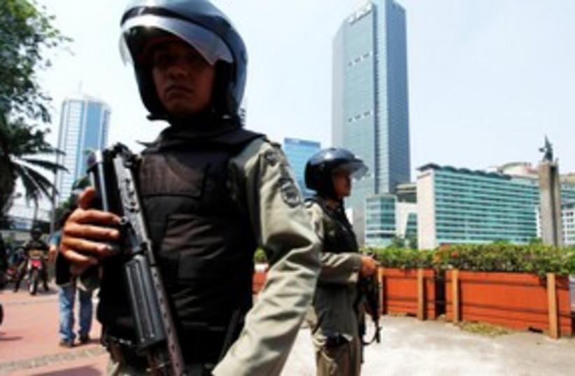 Indonesia anti-terror police 311 (photo credit: REUTERS)