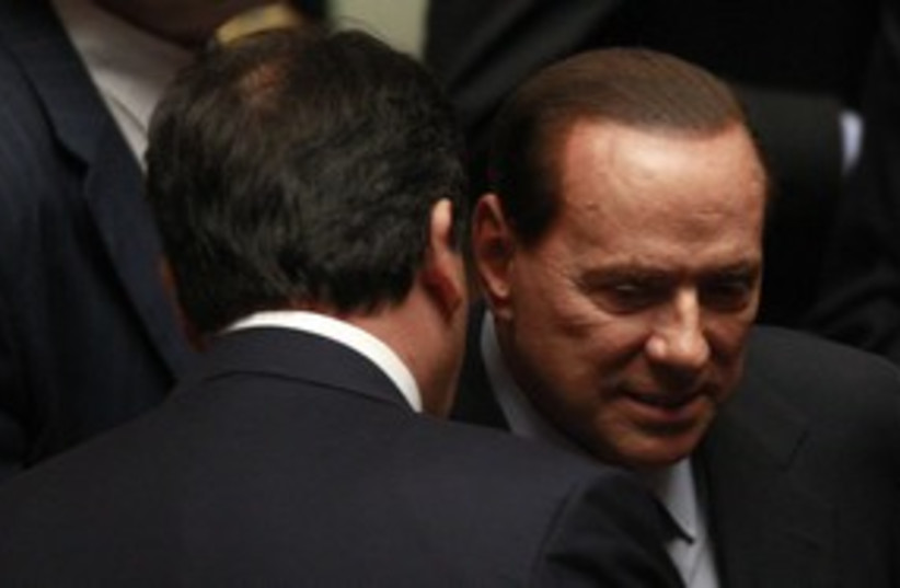 Berlusconi311 (photo credit: REUTERS/Tony Gentile)