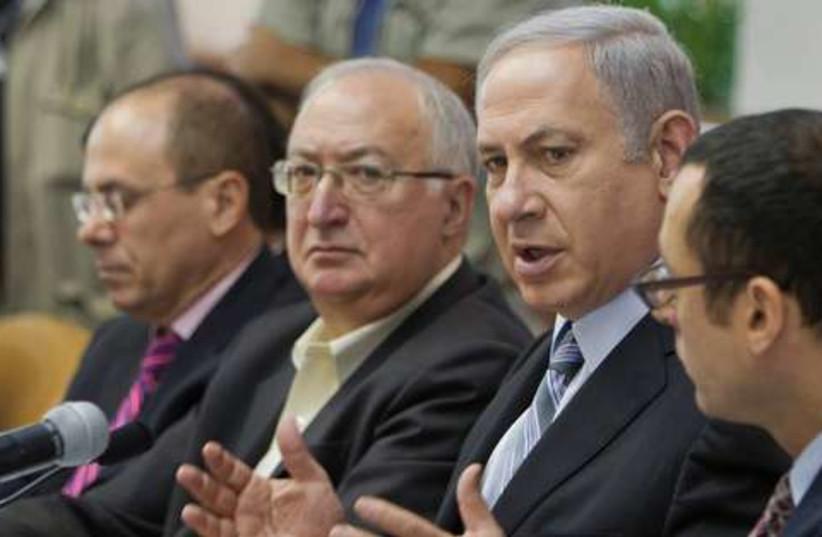 Netanyahu cabinet meeting 521 (photo credit: REUTERS/POOL New)