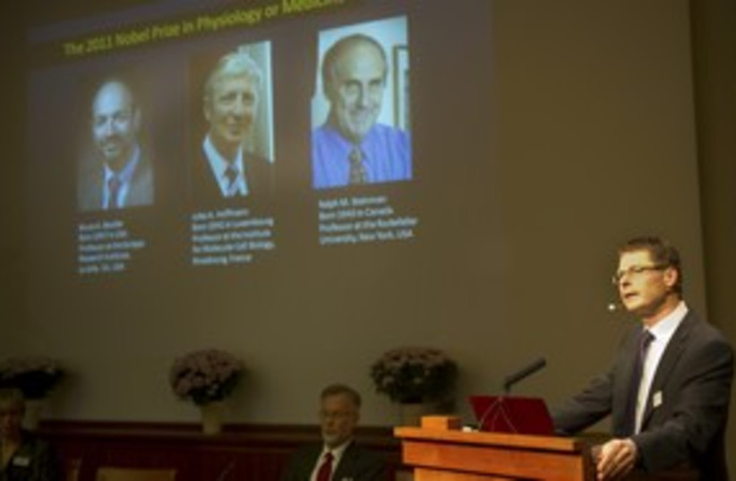 Nobel medicine prize winners 311 R (photo credit: REUTERS)
