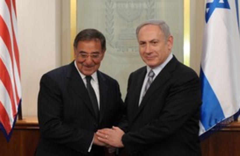 Netanyahu meets Panetta 311 (photo credit: Amos Ben Gershom/GPO)