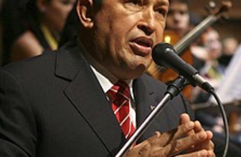 Chavez ape 224.88 (photo credit: AP)