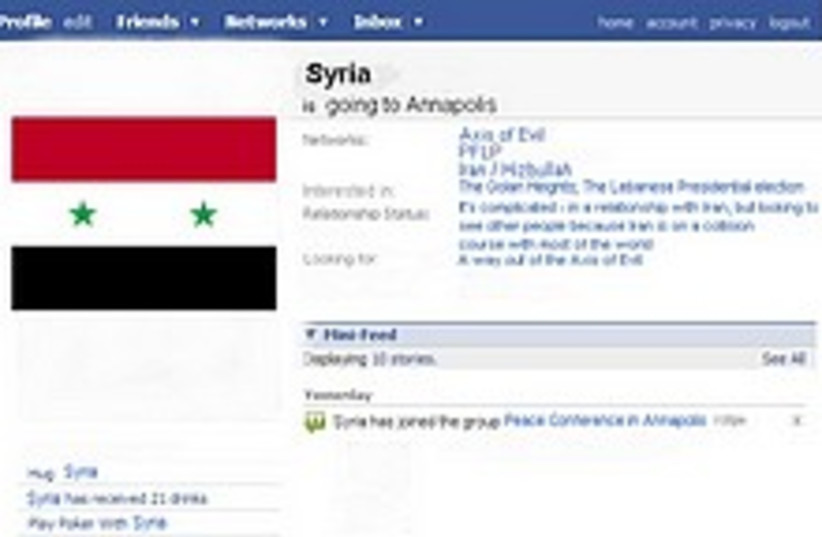 Syria Facebook 224.88 (photo credit: Illustration by Ricky Ben-David)