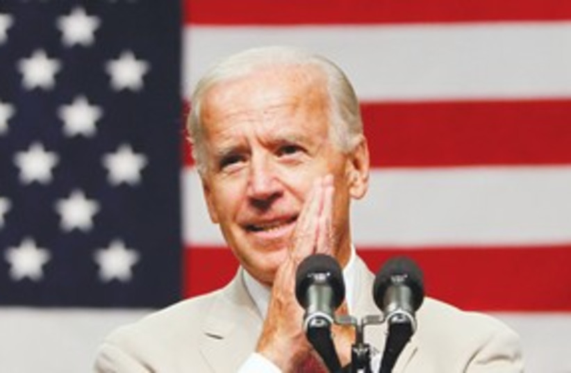 US Vice President Joe Biden 311 (R) (photo credit: Toru Hanai/Reuters)