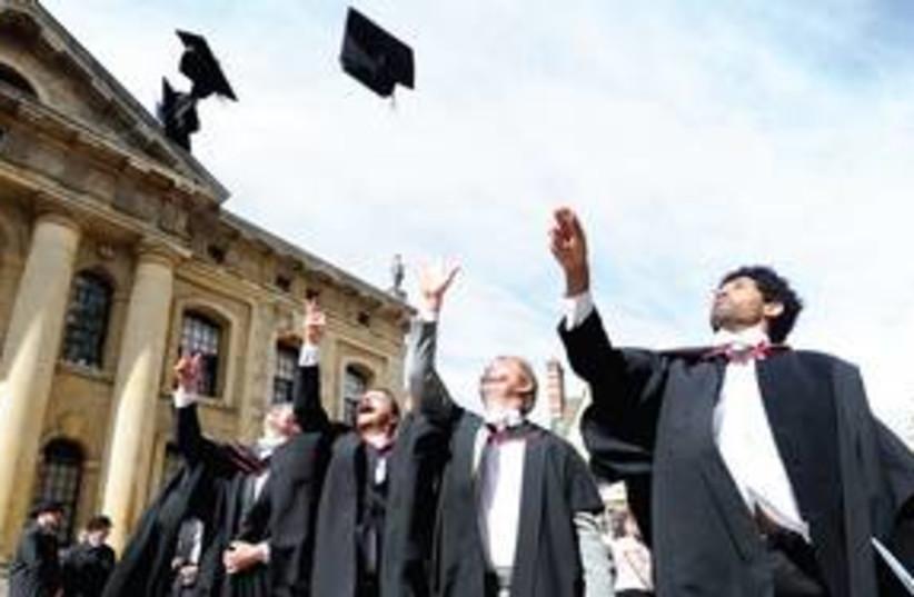 Graduation at Oxford University 311 (R) (photo credit: REUTERS)