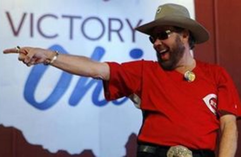 Country singer Hank Williams Jr. 311 (R) (photo credit: Reuters/Brian Snyder)