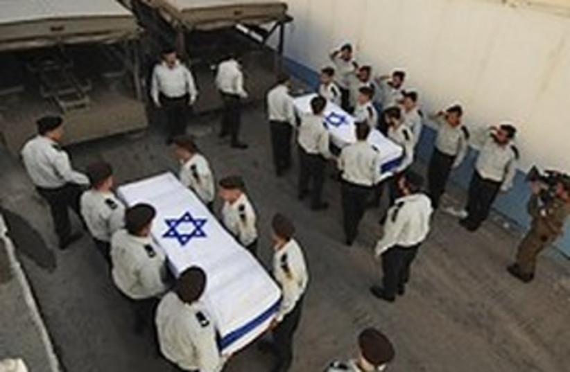 regev, goldwasser coffins (photo credit: IDF)
