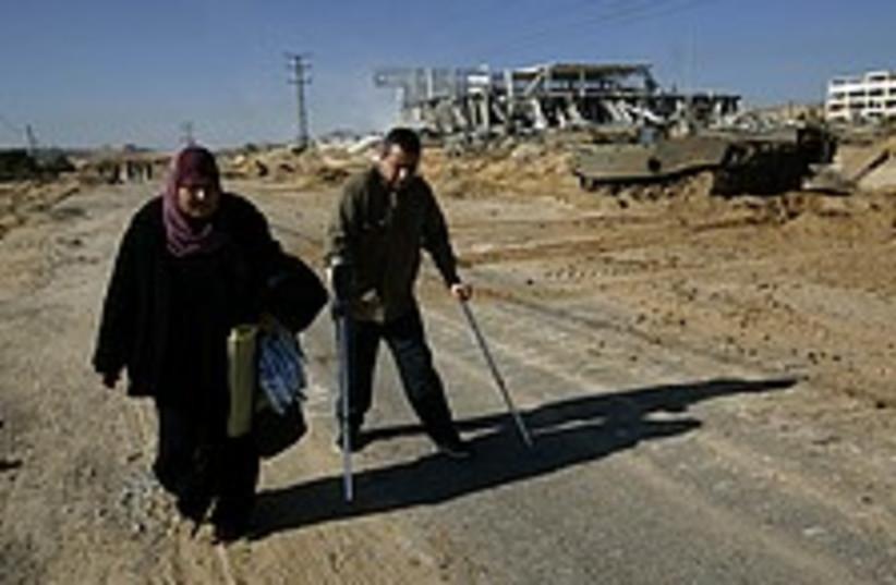 palestinian injured 224. (photo credit: AP)