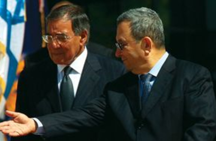 Ehud Barak and US SecDef Leon Panetta 311 (photo credit: REUTERS)