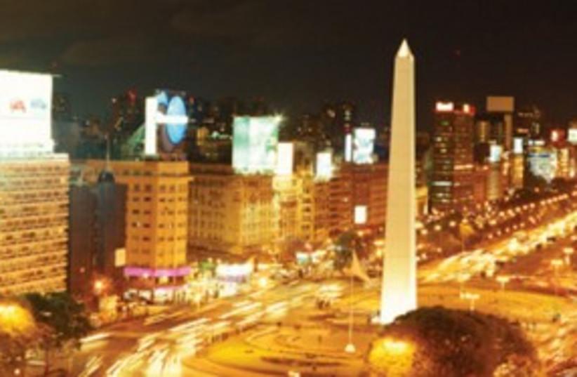 Buenos Aires nightime obelisk_311 (photo credit: Thinkstock/Imagebank)