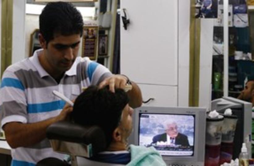 East Jerusalem barber shop 311 (photo credit: BAZ RATNER / REUTERS)
