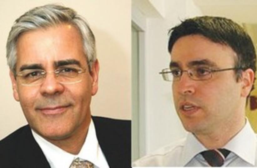 Ariel Miller and Hossam Haick 311 (photo credit: Technion)