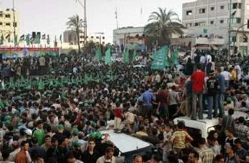 A Hamas parade in Gaza City 311 (R) (photo credit: REUTERS)