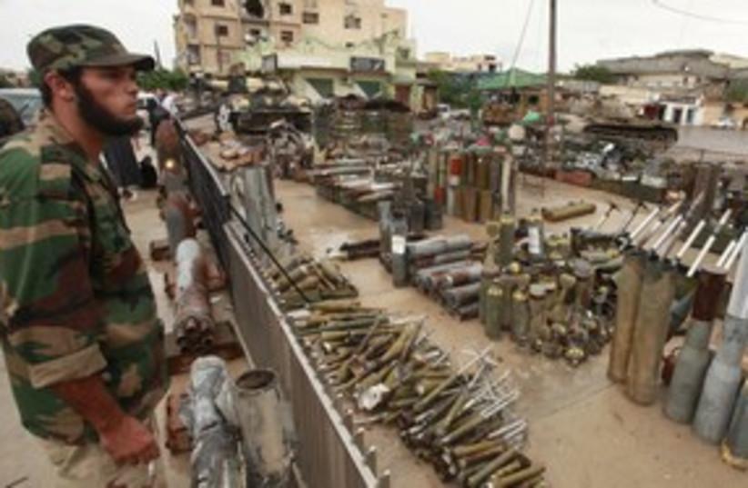 Anti-Gaddafi fighter 311 R (photo credit: REUTERS/Suhaib Salem)