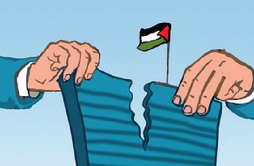 UN split in half [do not re-publish] (photo credit: Avi Katz)