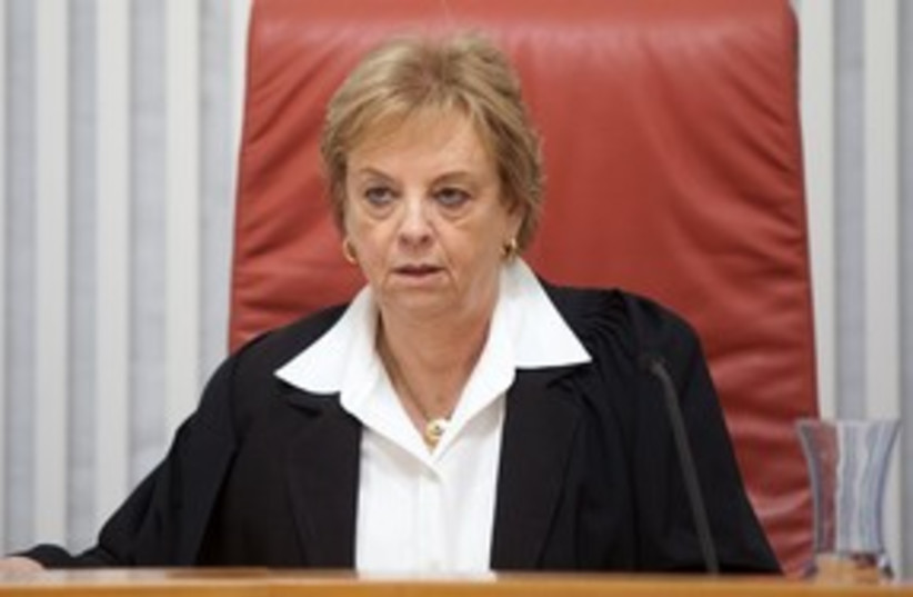 Supreme Court President Dorit Beinisch 311 (photo credit: Dudi Vaknin / Pool)