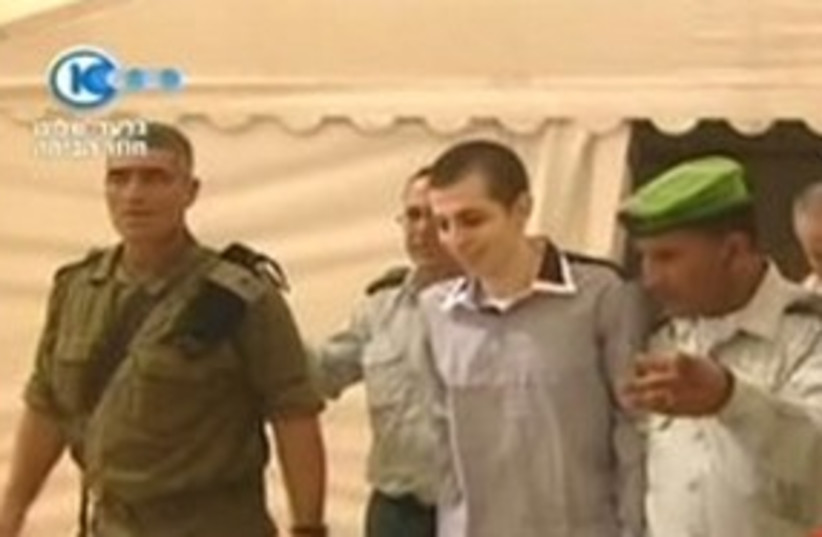 Gilad Schalit first meets with IDF officers 311 (photo credit: Channel 10)