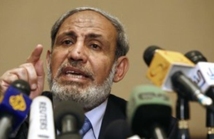 Hamas leader Mahmoud Zahar_311 (photo credit: Reuters)