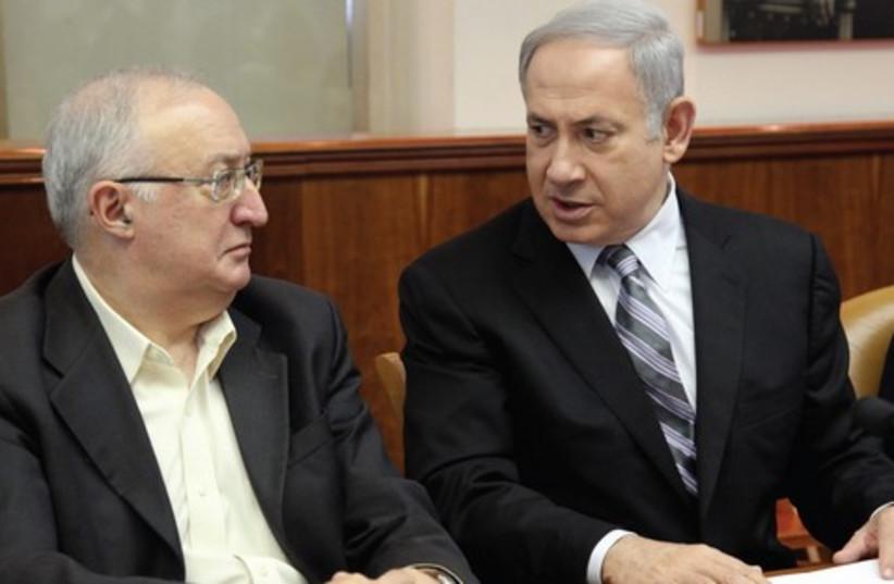 PM Netanyahu  with Prof. Manuel Trajtenberg DONT USE (photo credit: Flash 90)