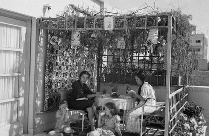 Bassam family succa, Rehavia neighborhood, 1939.