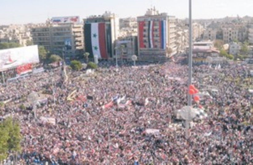 Aleppo Rally 311 R (photo credit: Reuters)