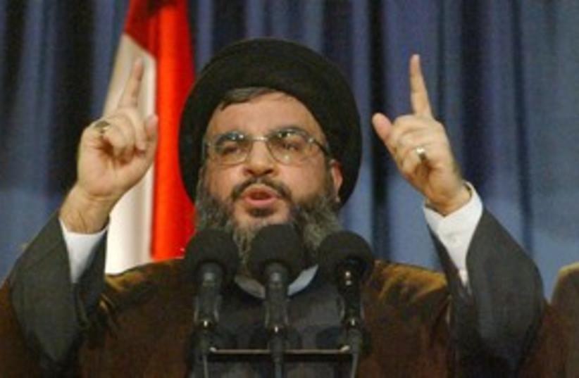 Hezbollah leader Hassan Nasrallah 311 (R) (photo credit: REUTERS)