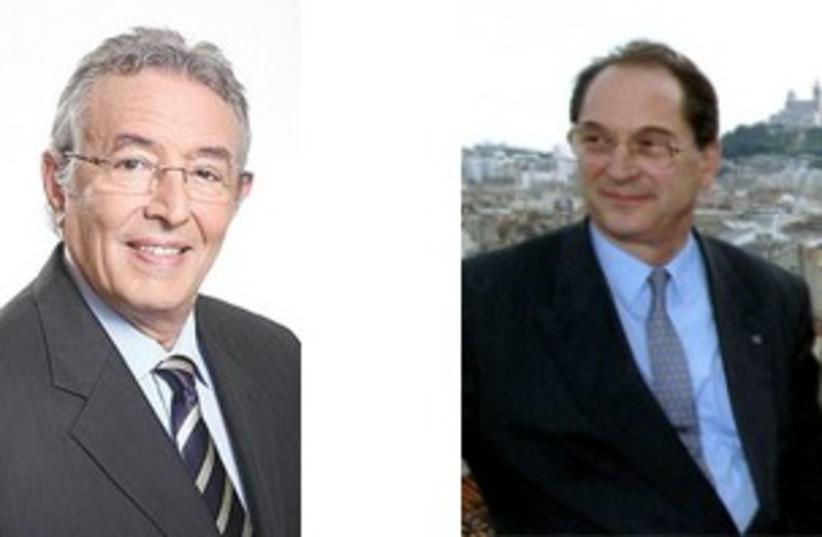Jacques Rocca-Serra and Shlomo Buhbut 311 (photo credit: Marc Israel Sellem and Reuters)