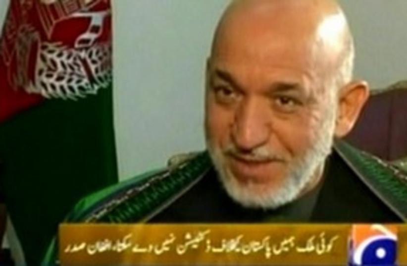 Hamid Karzai 311 (photo credit: Reuters)