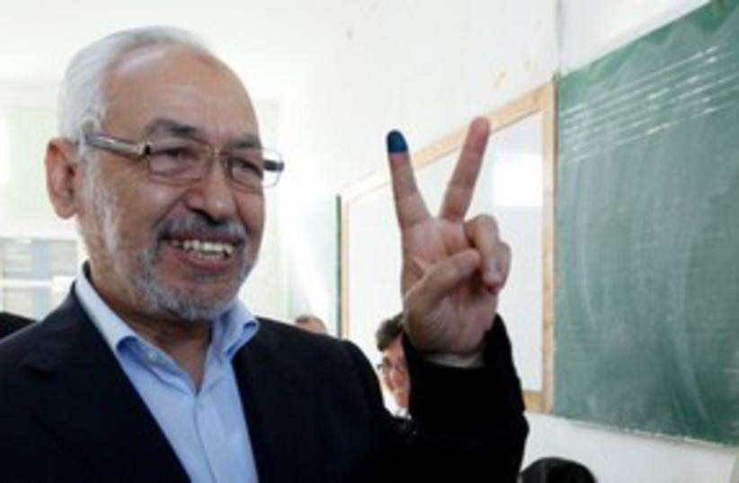 Rached Ghannouchi 311 (photo credit: REUTERS/Jamal Saidi)