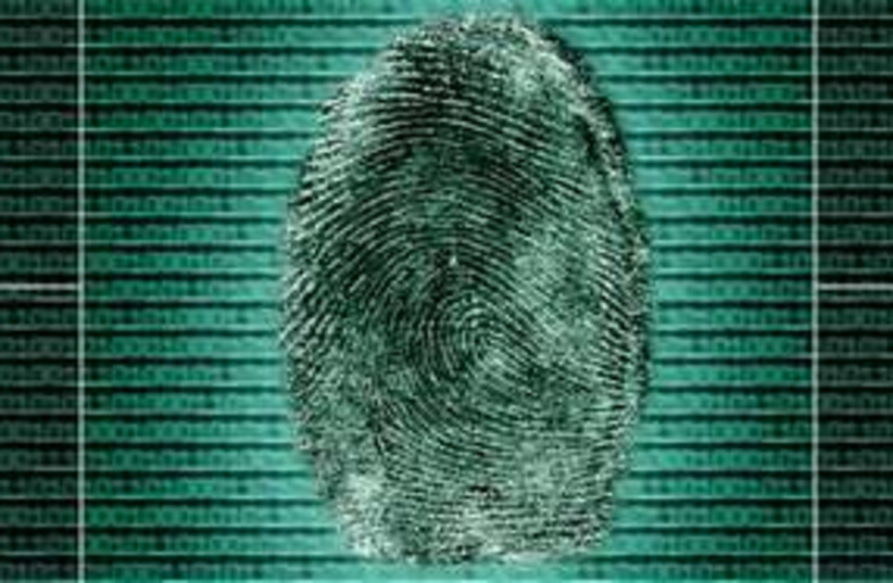 Biometric fingerprint identity 311 (photo credit: Thinkstock/Imagebank)