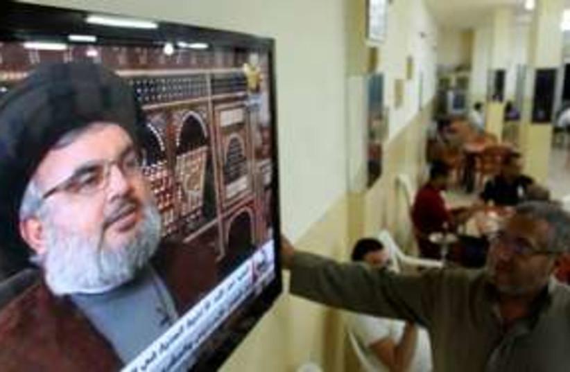 Hezbollah leader Sheikh Hassan Nasrallah 311 (R) (photo credit: REUTERS/ Ali Hashisho)