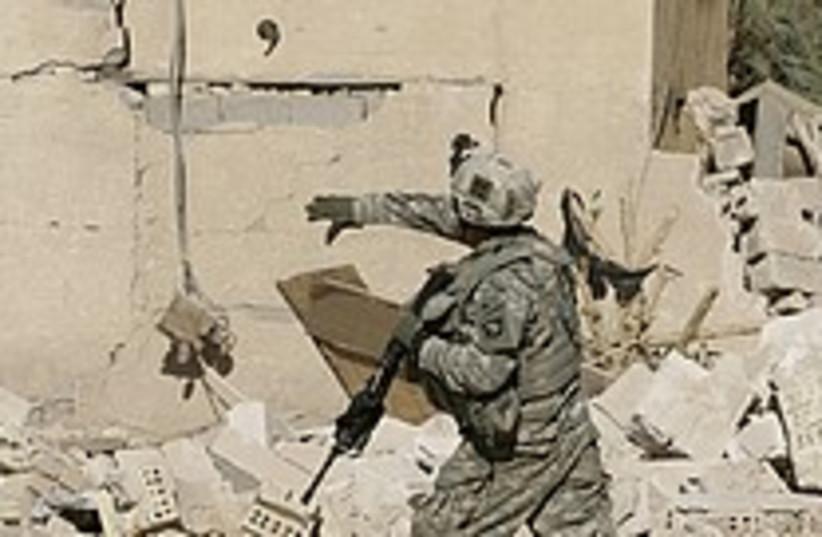 soldier iraq grenade  (photo credit: AP)