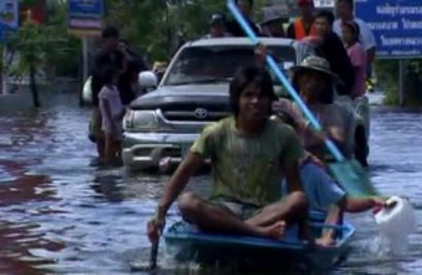 Flooding in Thailand (photo credit: Reuters)