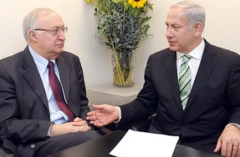 Netanyahu and Trajtenberg 311 (photo credit: Avi Ohion/ GPO)