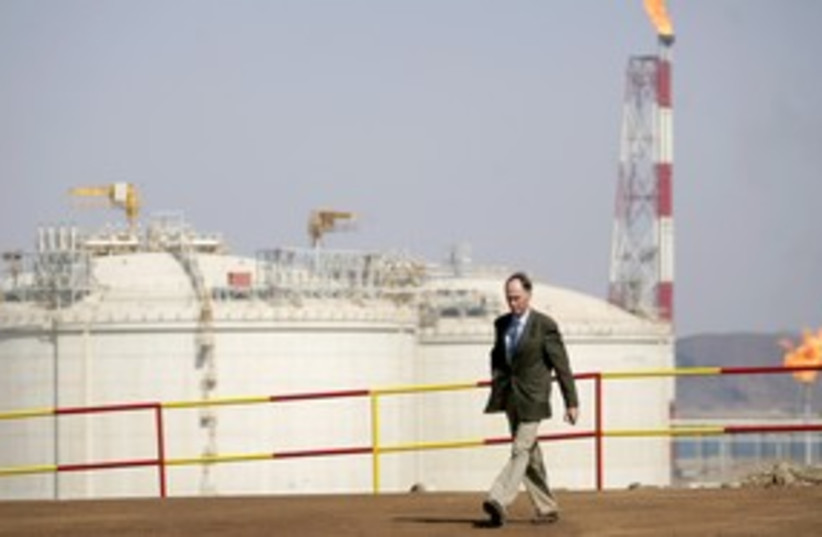 Total gas pipeline (photo credit: Reuters)