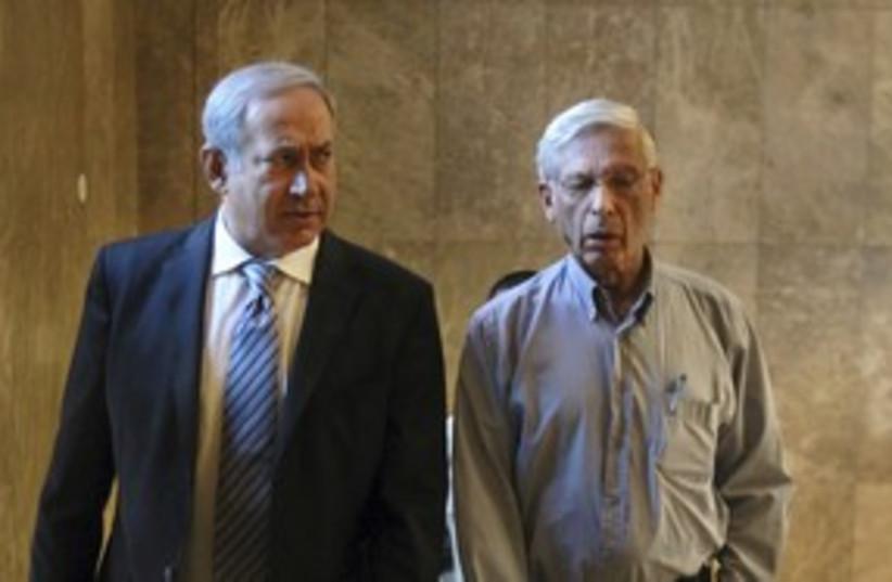 PM Netanyahu and Benny Begin 311 (photo credit: Pool)