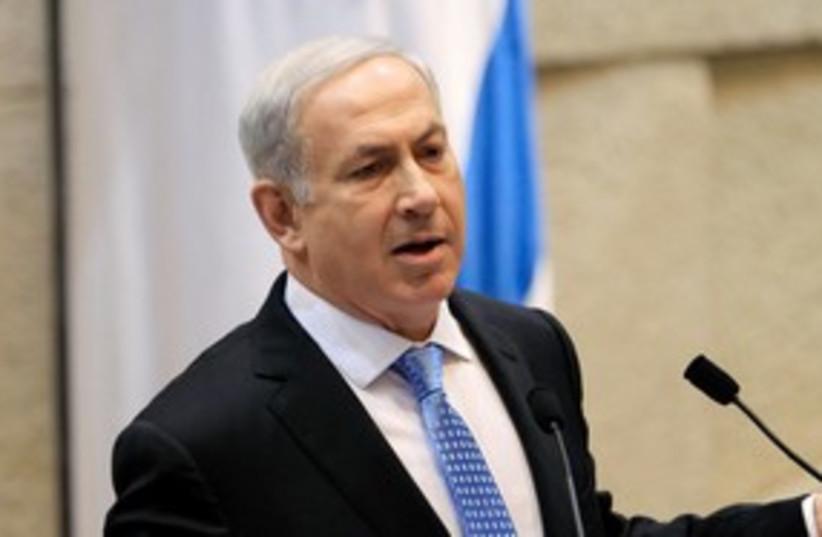 Prime Minister Binyamin Netanyahu in the Knesset 311 (R) (photo credit: REUTERS/Ronen Zvulun)