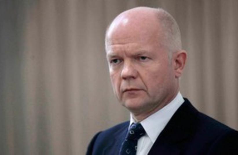 UK Foreign Secretary William Hague 311 (R) (photo credit: REUTERS/Ramzi Boudina)