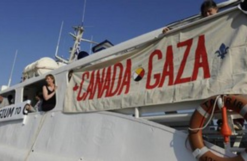 "Gaza-bound Canadian boat ""Tahrir"" (photo credit: Freedom Waves/Facebook)"