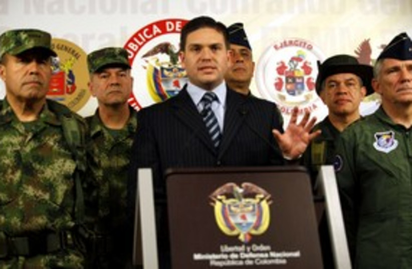 Colombia's Defence Minister Juan Carlos Pinzon (photo credit: Reuters)