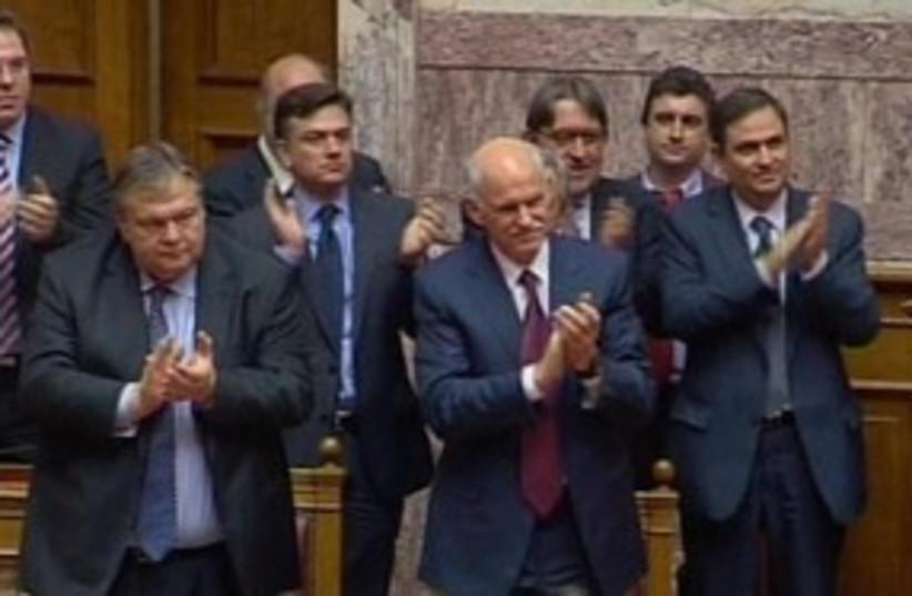 Greek parliament 311 (photo credit: REuters)