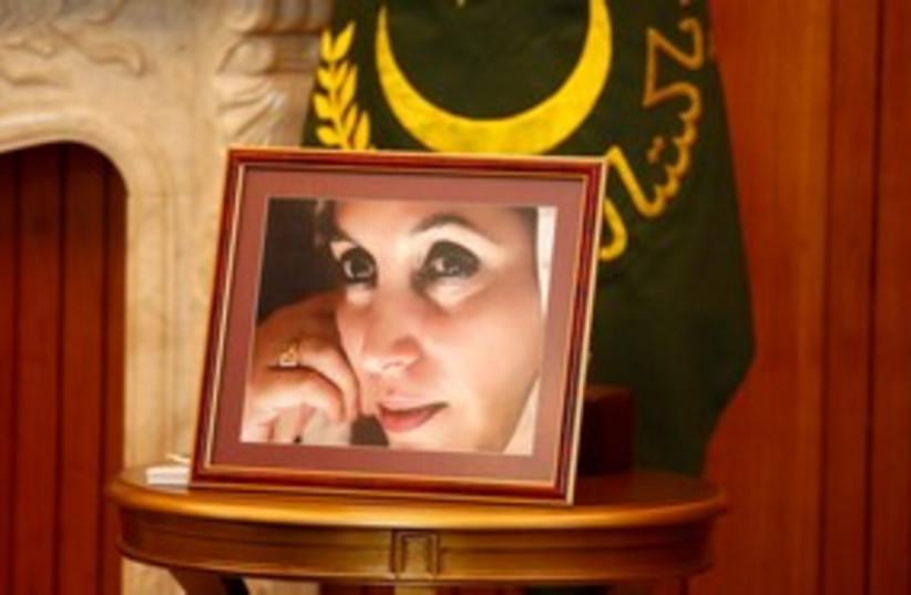 Benazir Bhutto portrait 311 (photo credit: REUTERS/Kevin Lamarque )