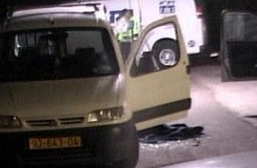 The scene of Sunday night's shooting in Zikim.  (photo credit: channel 2)