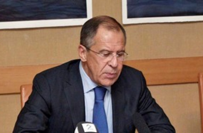 Russian Foreign Minister Sergei Lavrov 311 (R) (photo credit: Reuters)