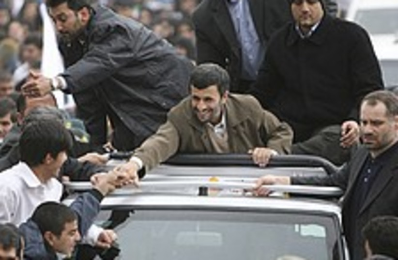 Ahmadinejad pop star 224 (photo credit: AP)