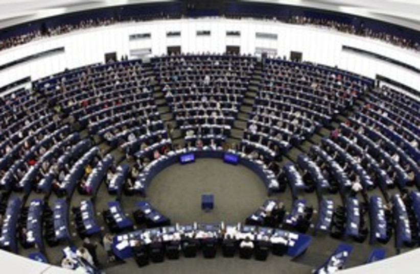 European Parliament 311 (photo credit: REUTERS)