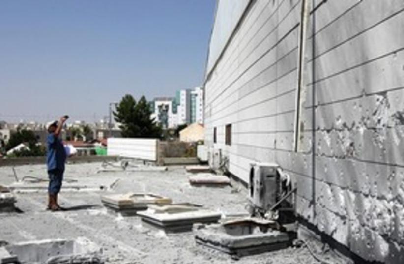 Rocket-damaged school in Beersheba 311 (photo credit: REUTERS)